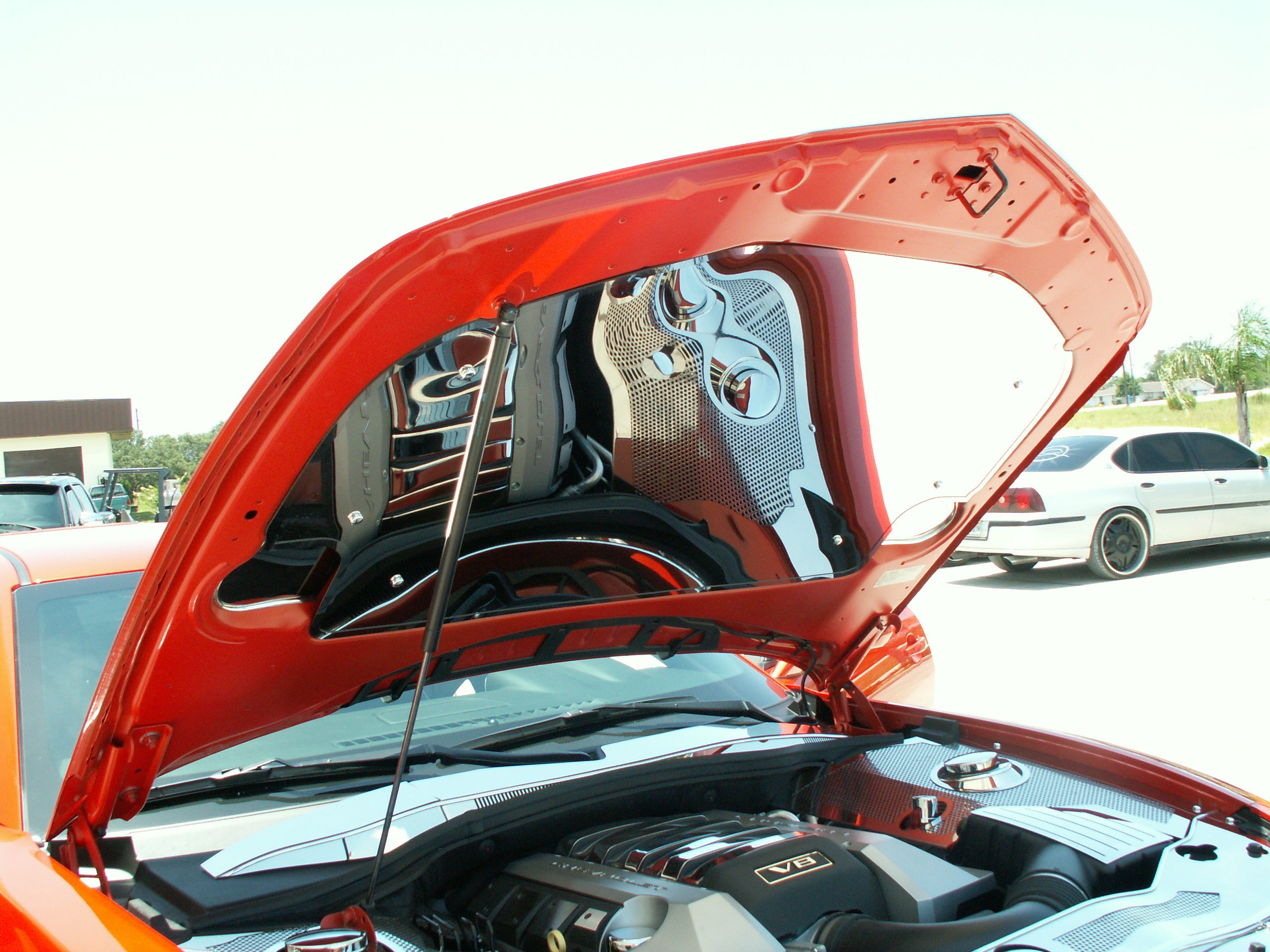 Polished Stainless Engine Compartment Panels for Camaro