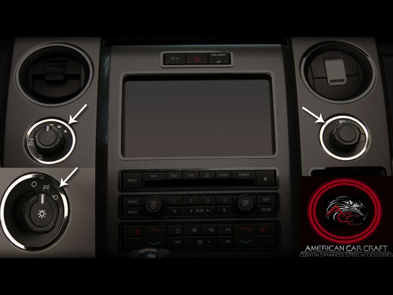 2010 2014 ford f150 raptor dash trim rings headlight 4wd 12v 3pc