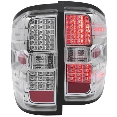 2014 15 chevy silverado 1500 3500 l e d tail lights chrome. Black Bedroom Furniture Sets. Home Design Ideas