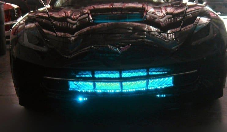 c7 corvette stingray led grille lighting kit - Corvette Stingray Light Blue