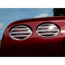 C5 Corvette Slotted Stainless Steel Taillight Bezels Rings