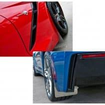 C7 Corvette Stainless/Carbon Fiber Wrap Splash Guards 4pc Kit