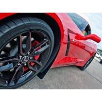 C7 Corvette Stainless Steel/Carbon Splash Guards
