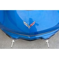 C7 Corvette Polished Stainless Steel Front Lip Spoiler
