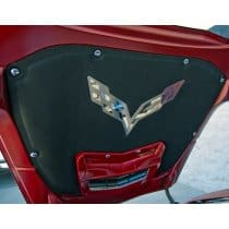 C7 Corvette Hood Liner Crossed Flags Emblem Overlay