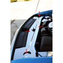 2009-2013 Dodge Challenger Polished Header Plate