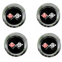 1976-1979 C3 Corvette Wheels Reproduction Center Caps Package
