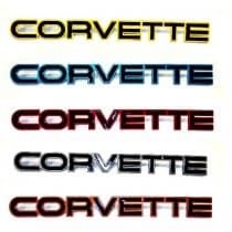 1984-1990 C4 Corvette Color Match Rear Bumper Letters K165175