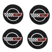 1984-1985 C4 Corvette Wheels Reproduction Center Caps Package