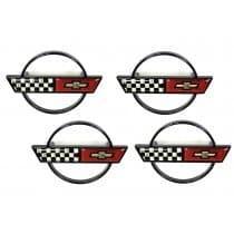 1988-1989 C4 Corvette Wheels Center Caps Emblem Package