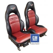 1997-2004 C5 Corvette Replacement Leather Embroidered-Leather Seat Covers
