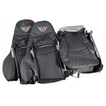 1997-2004 C5 Corvette Replacement Embroidered-Leather Sport Seat Covers