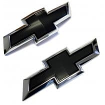 2016-2017 6th Generation Camaro Black Front and Rear Bowties Emblems Package