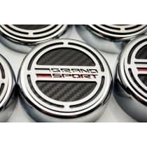 2017 C7 Corvette Grand Sport Engine Caps with Grand Sport Emblem And Carbon Fiber For Manual Transmission 053096