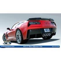 C7 Corvette ACS Rear Lower Bumper Diffuser Fins