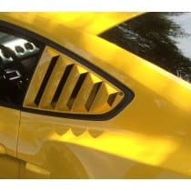 2015-2017 Ford Mustang Quarter Window Louvers Painted DefenderWorx