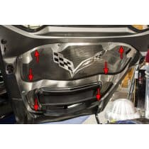 C7 Corvette Hood Trim with Center Brace For Any Hood Panel