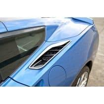 """C7 Corvette Stingray - 2pc Polished Rear Quarter Vent Set """"Z06 S"""