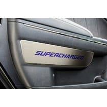 2011-2015 Dodge Charger/SRT Front Door Badge Set Brushed w/Polished Trim 2pc