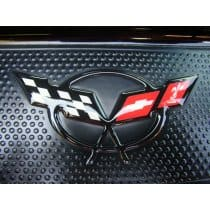 Corvette C5 Raised Door Sill Domed Decal Inserts