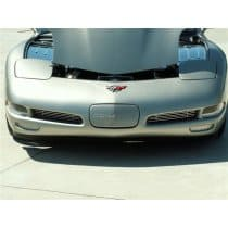 Corvette C5 Perforated 2-pc Stainless Front Brake Vent Grills