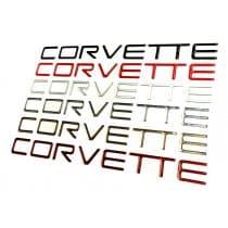C4 Corvette 1991-1996  Domed Rear Bumper Lettering Inserts Letters