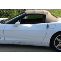 C6 Corvette Convertible Top in Lt Oak/Black Original Twillfast