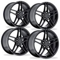 Corvette C6 Z06 Wheels - Black Set