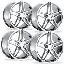 C6 Corvette  Z06 Wheels - Chrome Set