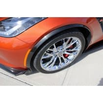 C7 Corvette Z06 Painted Wheel Opening Moldings Spats Set
