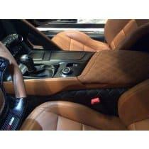 C7 Corvette Diamond Pattern Leather Center Console Lid