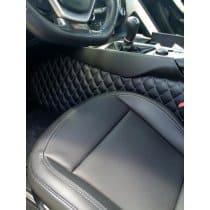 C7 Corvette Custom Leather Diamond Pattern Tunnel Drapes