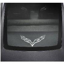 C7 Corvette Security Cargo Shade w/ C7 Logo