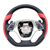C7 Corvette D Style Leather Wrapped Steering Wheel