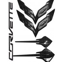 C7 Corvette Hydro Carbon Fiber Emblems Package