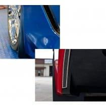 C7 Corvette Carbon Fiber Wrap Splash Guards 4pc Kit