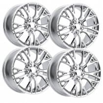 C7 Corvette Z06 Chrome Reproduction Wheels Package