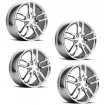 C7 Corvette Z51 Style Chrome Wheels (Set)
