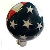 C7 Corvette Billiard Style Shift Knob Custom AirBrushed American Pride Flag Design