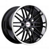C7 Corvette Cray Hawk Gloss Black with Chrome Lip Wheels Set