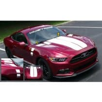 2015-2017 Mustang Dual Hood Stripes Solid Style with Faders