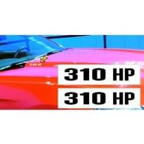 2015-2017 Mustang Hood Rise Designation Decal Set 310 HP