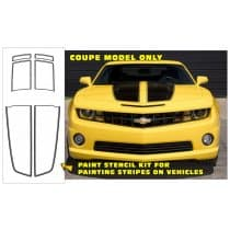 2010-2013 Camaro Dual Rally Over Car Stencil Kit  Coupe