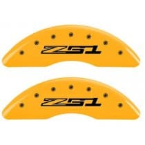 C7 Corvette Caliper Covers with Z51 Logo Yellow Powder Coated