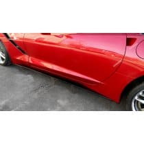 C7 Corvette Side Skirts Package Stage 2 - Painted