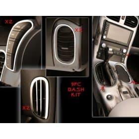C6 Corvette  Complete Stainless Steel Dash Kit