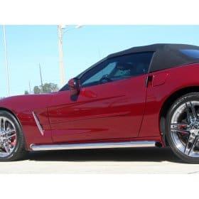 Corvette C6 Side Pipes - Retro Style
