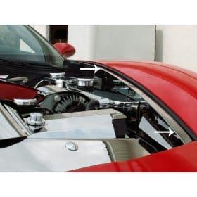 C6 Corvette Polished Stainless Steel Fender Caps Set