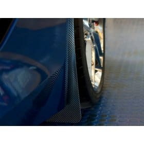 C7 Corvette Carbon Fiber Wrap Splash Guards 2pc front
