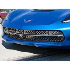 C7 Corvette Front Grille- Polished Stainless Steel